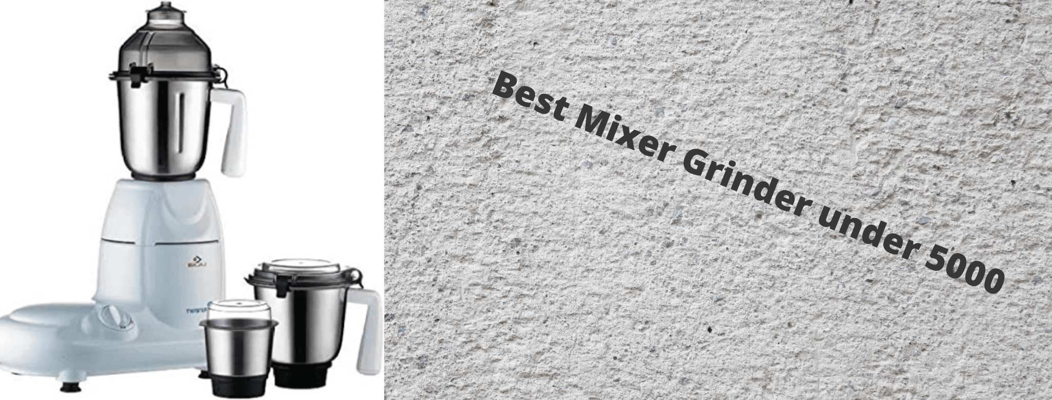 Best Mixer Grinder under 5000 in India